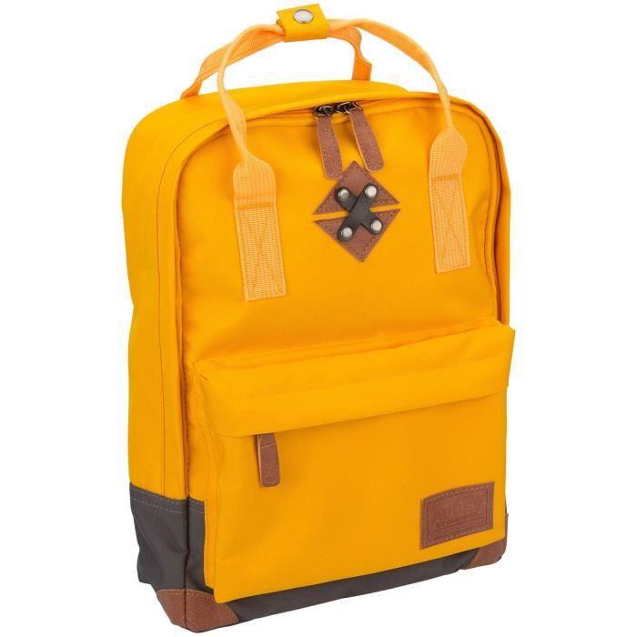 ABBEY Petit sac à dos en polyester 300T - Doublure 100% polyester - Dimensions 24 x 10 x 33 cm - Jaune