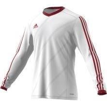 ADIDAS TABE 14 LS JSY T-shirt manches longues junior - Blanc / Rouge