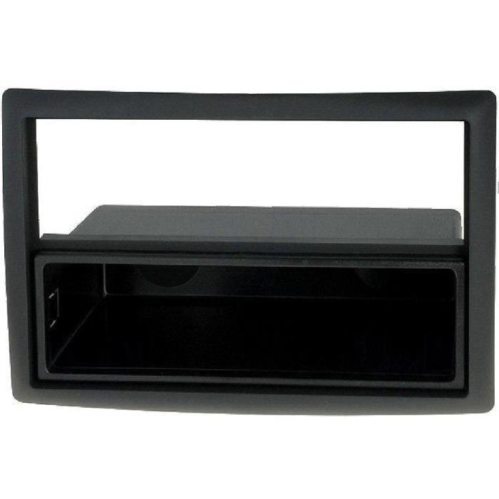 Facade Autoradio 1Din Megane II 02-09 - Noir - avec vide-poche - ADNAuto