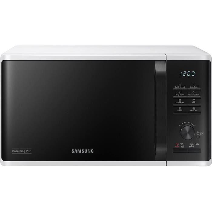 Samsung mg23 K3515aw/et micro-ondes avec grill 23 litres, 1100+800 Watt