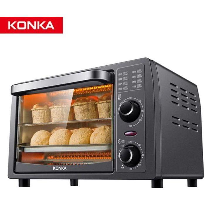 KONKA MINI FOUR 13L multifonctionnel ménage four électrique 1200W cuisson/fruits secs/Barbecue pain cuisson