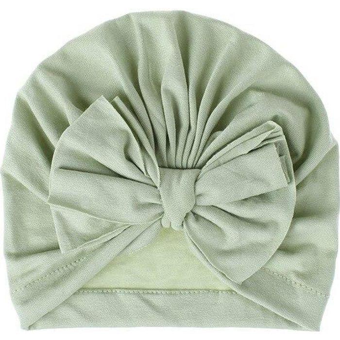 18 couleurs belle hiver couleur unie épais nouveau né chapeau garçons fille coton doux grand arc Turban Bonnet casquette WL21956