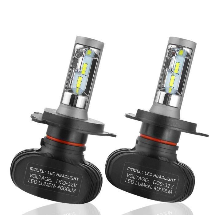 Émettant couleur 2pcs comprennent Socket H11 LED ampoule pour éclairage de voiture, 50W, 8000LM, 6500K, CSP,