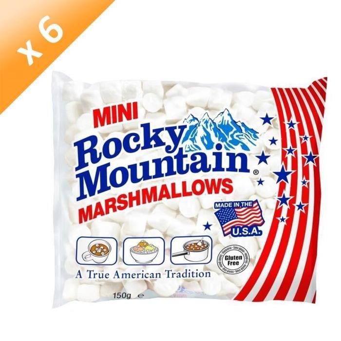 [LOT DE 6] Mini Marshmallows Blanc - 150 g