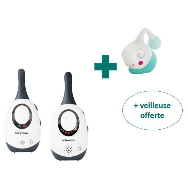 BABYMOOV Babyphone Audio Simply Care Gris + Veilleuse offerte