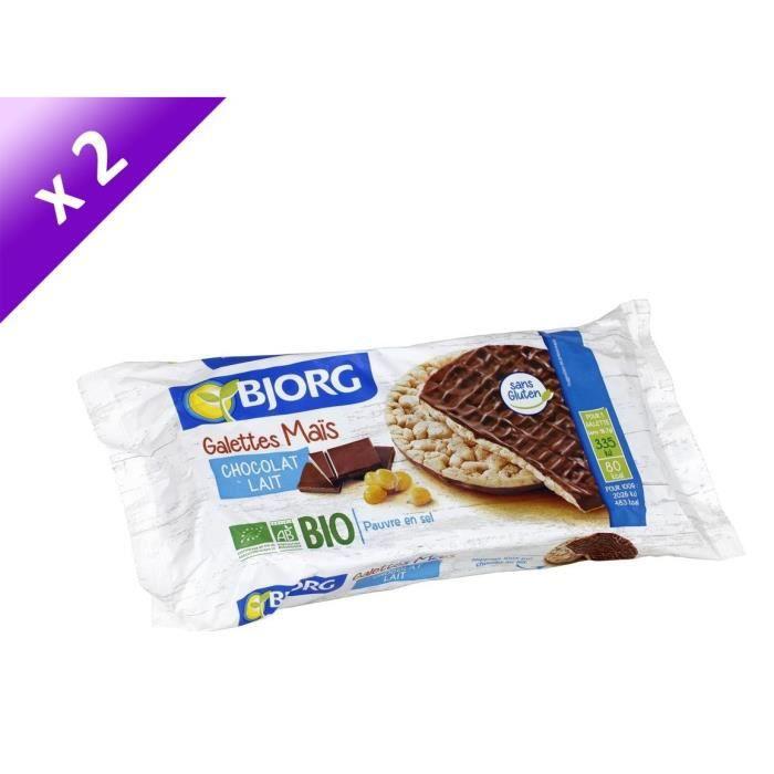[LOT DE 2] Galettes de maïs chocolat 100 g Bjorg