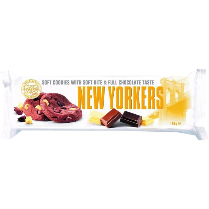 NEW YORKERS Cookies MŒlleux aux 3 Chocolats - 175 g