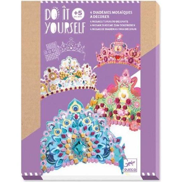 Kit mosaïque couronne princesse DJECO