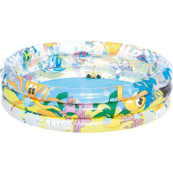 BESTWAY Piscine gonflable océan life - 122 cm x 25 cm