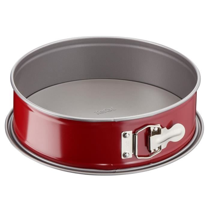 TEFAL Moule à charnière Delibake en acier - Ø 17 cm - Rouge et gris