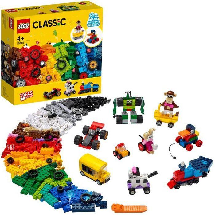 LEGO® 11014 Classic Briques et Roues Premier Jeu de Construction avec Voiture, Train, Bus, Robot pour Enfant de 4 Ans et +