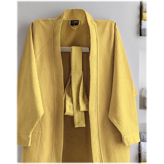 Peignoir kimono Polygones (6 coloris) L Gris Obscur