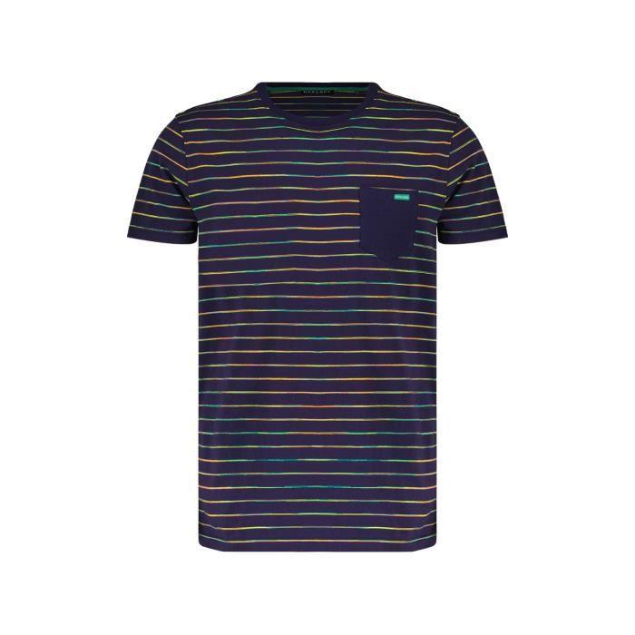 DEELUXE T-shirt manches courtes à rayures HONEY Night Blue