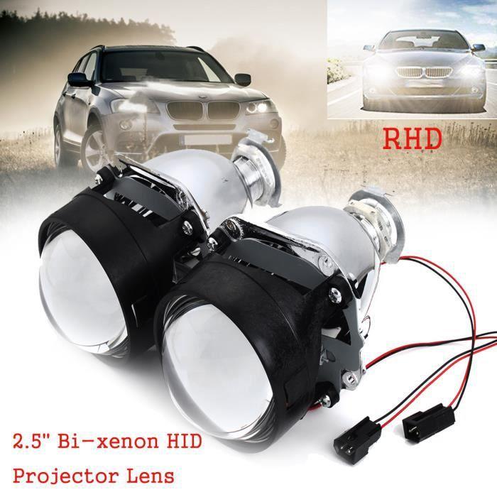 HID Bi-Xénon Projecteur Phare Lentille H1 H4 H7 Retrofit Hi Low Faisceau