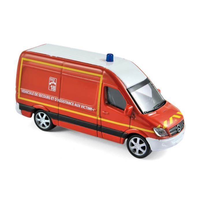 Miniatures montées - Mercedes Sprinter Pompier 1/64 Norev