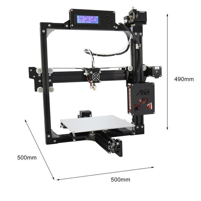 8Gb Carte + Configuration Diy 3D Imprimante 220W Au Plug En Alliage D'aluminium Structure A2 L Support Auto Nivellement