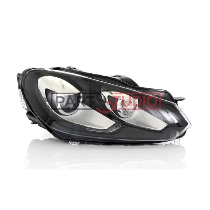 Optique, phare feu avant droit Bi-Xenon passager - Volkswagen Golf 6 VI de 11/08 à 11/12