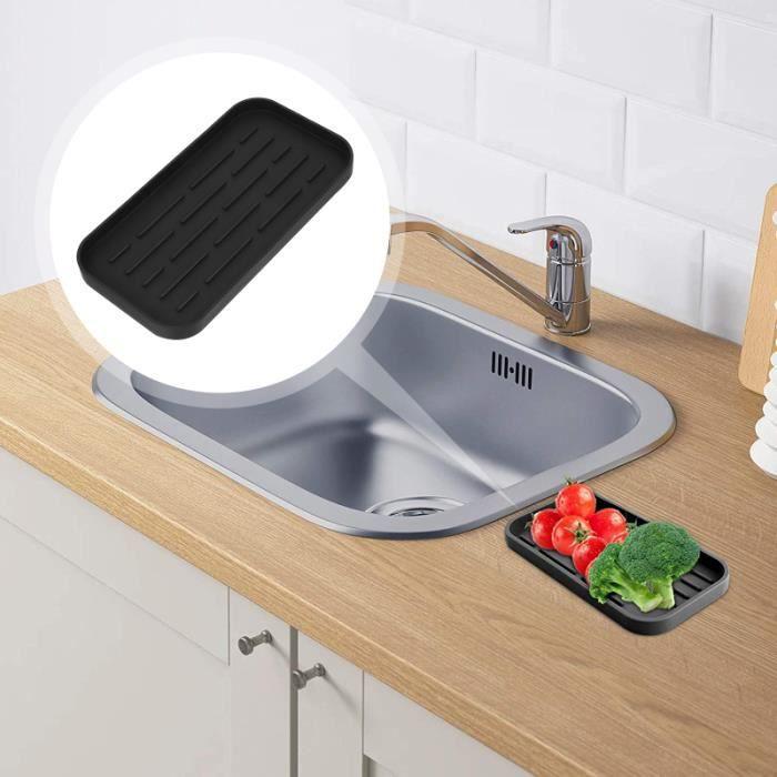 Plateau de séchage pour évier de cuisine en silicone de qualité alimentaire ASSAINISSEMENT (BAC A GRAISSE - FILTRE - PRE-FILTRE)