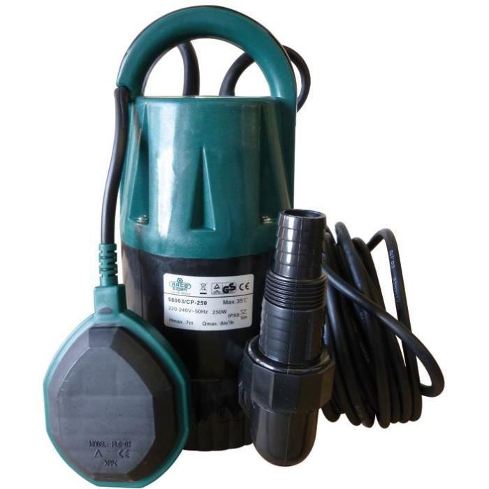 Pompe vide cave pour eau claire - 250 W - 8000 L/h - 0.7 bar