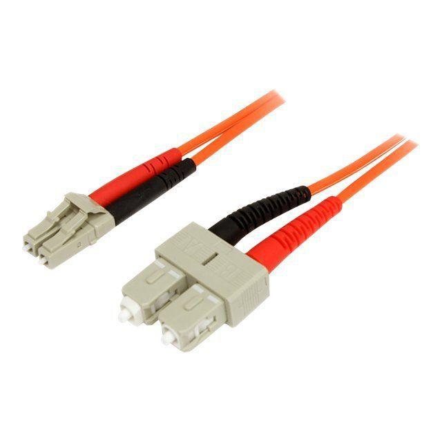 Startech Câble patch à fibre optique duplex 50/125 multimode Lc Sc 1 m