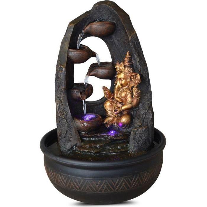 ZEN LIGHT Fontaine d'intérieur bouddha Mystic - Noir