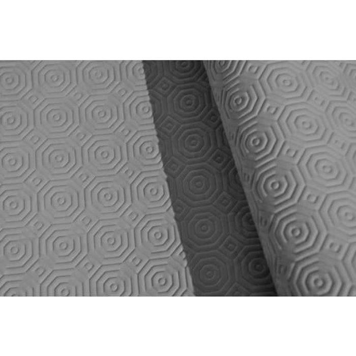 Sous Nappe PVC Gris effet bulgomme - Vendu au mètre - Largeur 140 cm - Roulé sur Tube en Carton (sans Plis)