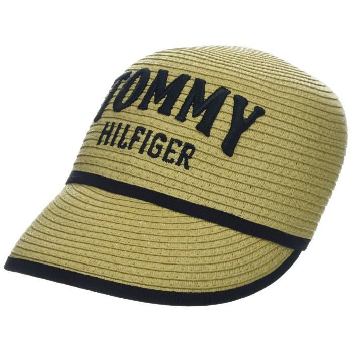 Tommy Hilfiger Straw Cap Casquette De Baseball, Beige (Natural 901), Unique (Taille Fabricant: OS) Femme