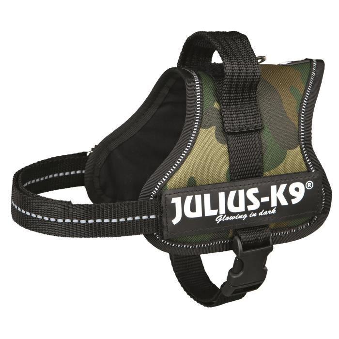 Harnais Power Julius-K9 - Mini-Mini - S : 40-53 cm-22 mm - Camouflage - Pour chien