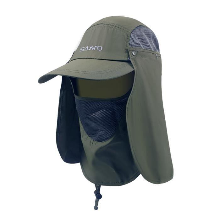 Chapeaux de sport Casquette de protection contre le soleil Protection UV Chapeau respirant 360 degrés crème solaire Jungle Hat
