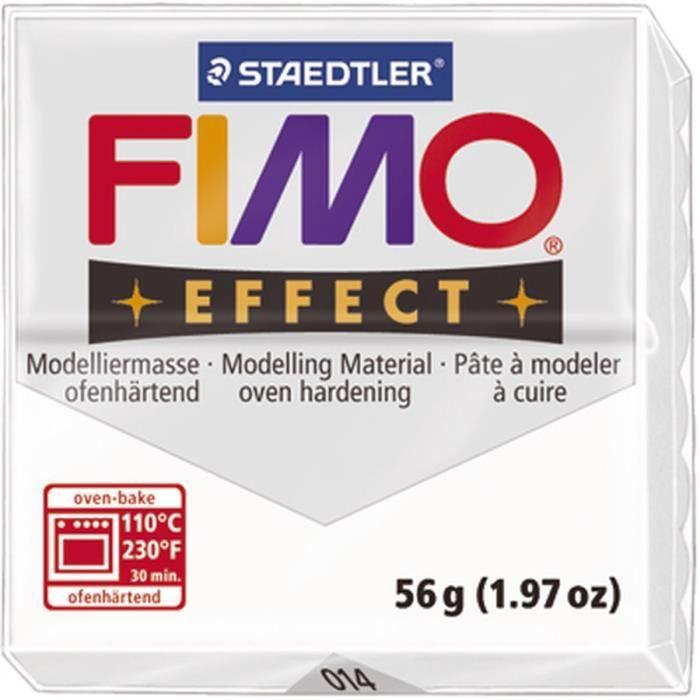 STAEDTLER Pâte à modeler à cuire Fimo Effect bloc 56 g transparent