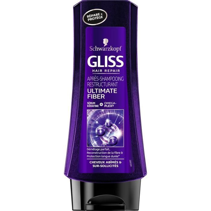SCHWARZKOPF Après-shampoing Gliss Ultimate Fiber - 200 ml