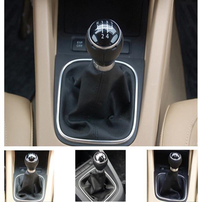 Pommeau de levier de vitesse 5 Speed Gear stick Cover Shift Housse de protection de la gaiter pour VW Golf 6 MK5 MK6 Jetta