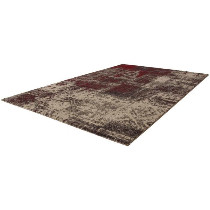 allotapis tapis de salle manger vintage rouge campus 80x150cm rouge achat vente. Black Bedroom Furniture Sets. Home Design Ideas