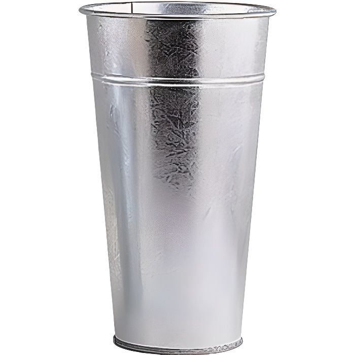 Vase de jardin en zinc lourd