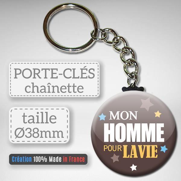 Mon Homme Pour La Vie Porte Clés Chaînette 38mm Idée