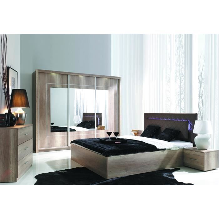 Chambre coucher compl te shakira led achat vente for Achat chambre a coucher