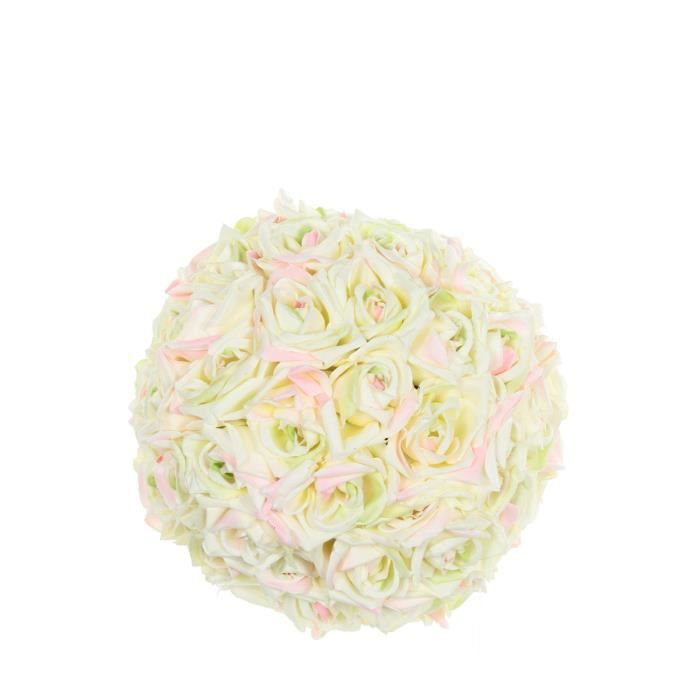 Boule de roses artificielles rose achat vente fleur for Rose artificielle