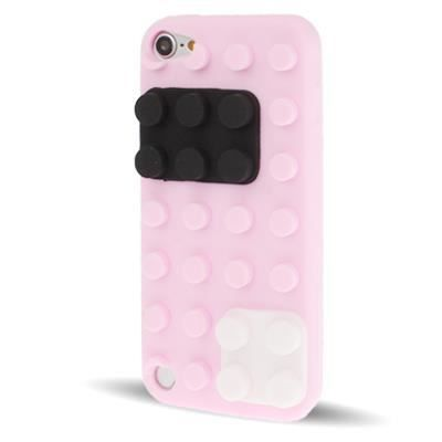 Ipod touch 5 coque housse de protection silicone rose bloc for Housse ipod touch 5