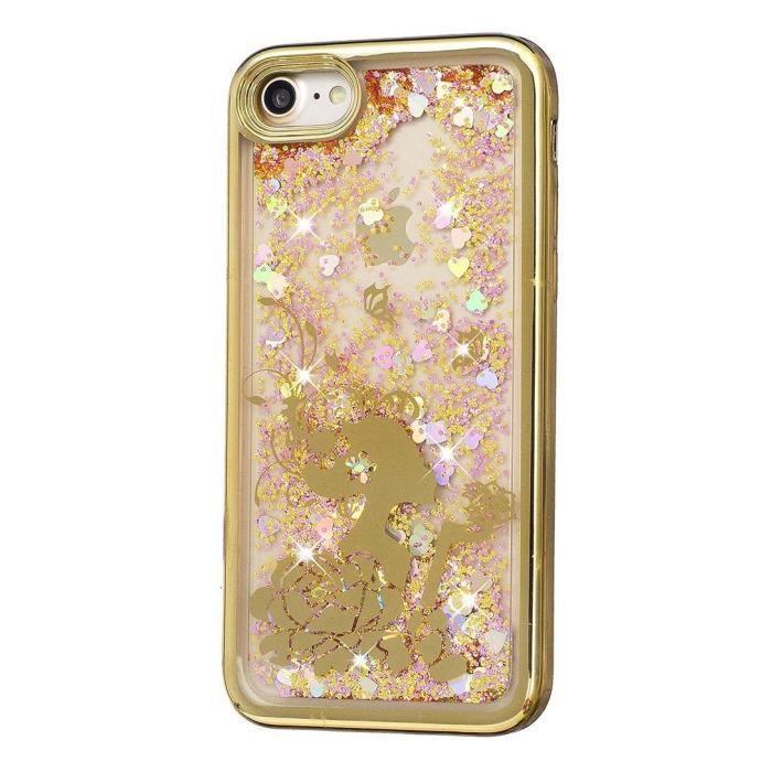 coque iphone 5s brillant femme et fleur dore 1 2
