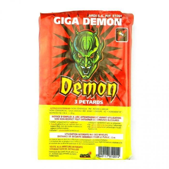 CONFETTIS  Pétard Giga Démon Lot De 2