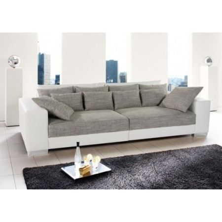 canap design fantasia gris blanc achat vente canap sofa divan les soldes sur. Black Bedroom Furniture Sets. Home Design Ideas