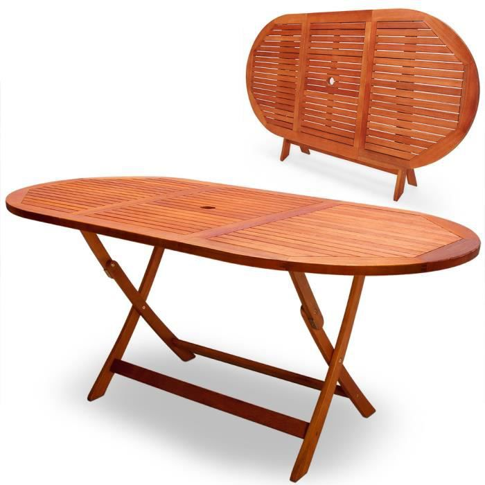 Table De Jardin Pliable Alabama Eucalyptus Huil Achat Vente Table De Jardin Table De