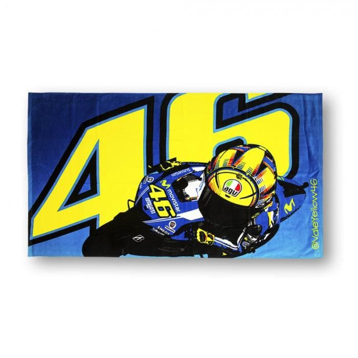 valentino rossi vr46 46 la plage de doctor v lo motogp serviette officielle 2015 achat vente. Black Bedroom Furniture Sets. Home Design Ideas