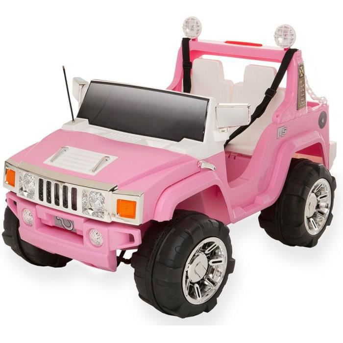 voiture lectrique 4x4 hummer rose pour fille 12 v achat vente voiture enfant cdiscount. Black Bedroom Furniture Sets. Home Design Ideas