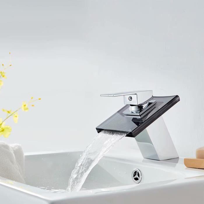 Salle de bain murale cascade robinet baignoire lavabo évier mitigeur LT