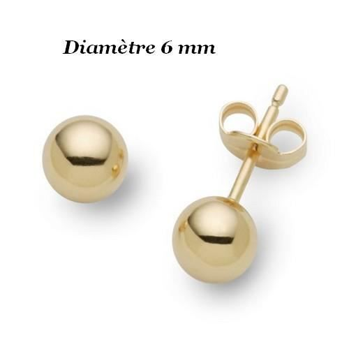 boucle oreille perle or