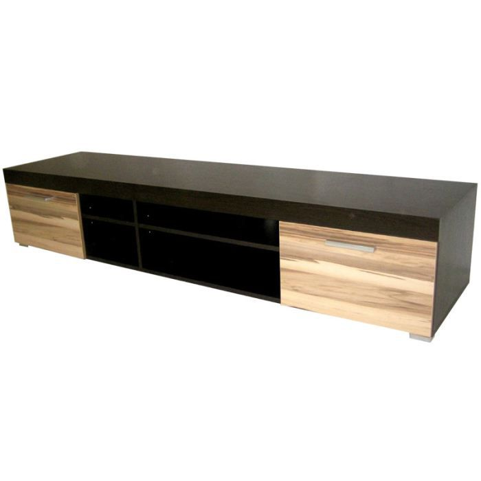 meuble tv bois noir et ch ne atlanta achat vente. Black Bedroom Furniture Sets. Home Design Ideas