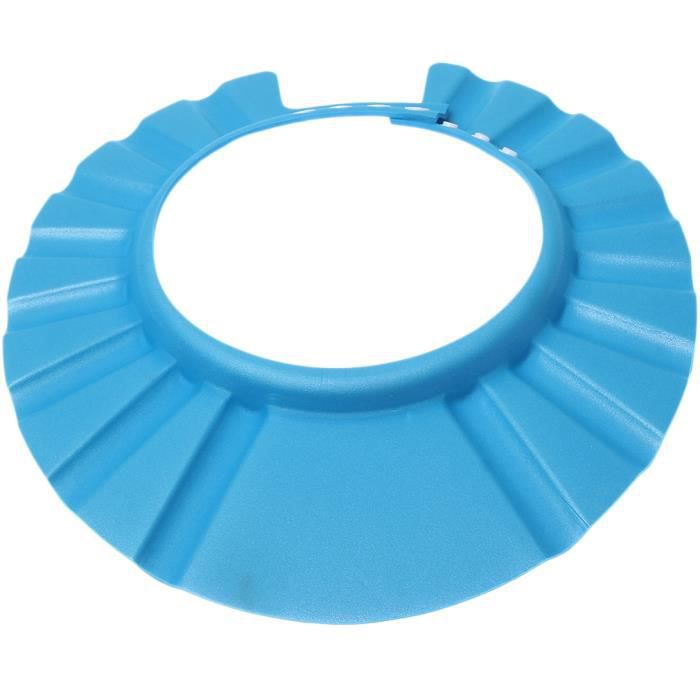 B b bonnet de douche bain protection r glable bleu bleu for Piscine de douche bebe