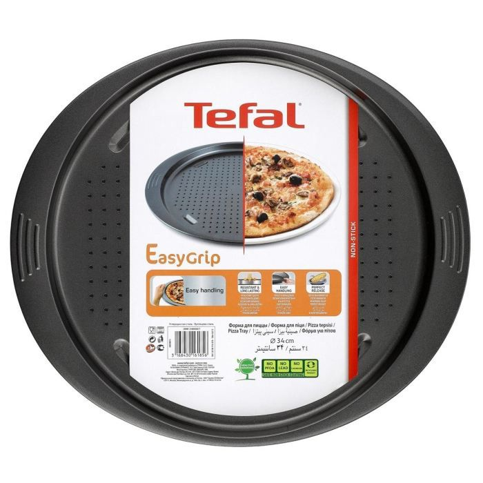 tefal easy grip moule pizza perfor e j0839014 51 8x36cm noir achat vente plat pour four. Black Bedroom Furniture Sets. Home Design Ideas