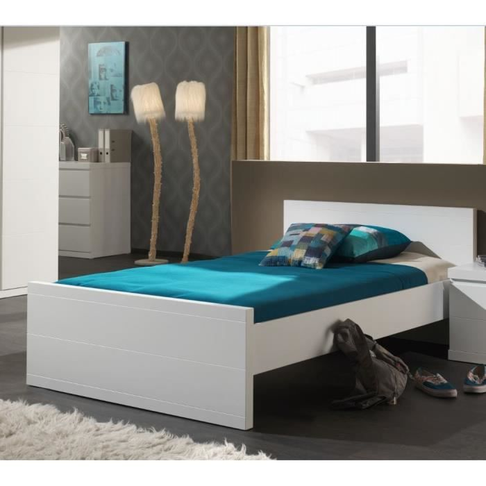 lara lit enfant 120 x 200 cm blanc achat vente structure de lit lara lit 120 x 200 cm blanc. Black Bedroom Furniture Sets. Home Design Ideas